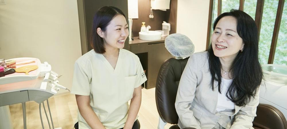 担当歯科衛生士がサポート